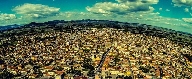 panoramica San Gavino Monreale dall'alto